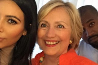 Kim Kardashian And Kanye West Took A Selfie With Hillary Clinton