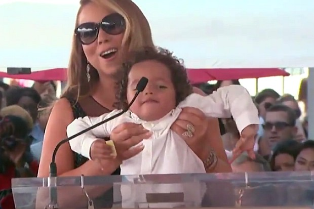 Mariah Carey Walk Of Fame son Rocky Moroccan