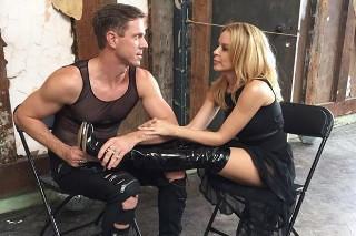 "Kylie Minogue Films ""The Other Boys"" Video With Jake Shears And NERVO: 3 Pics From The Set"