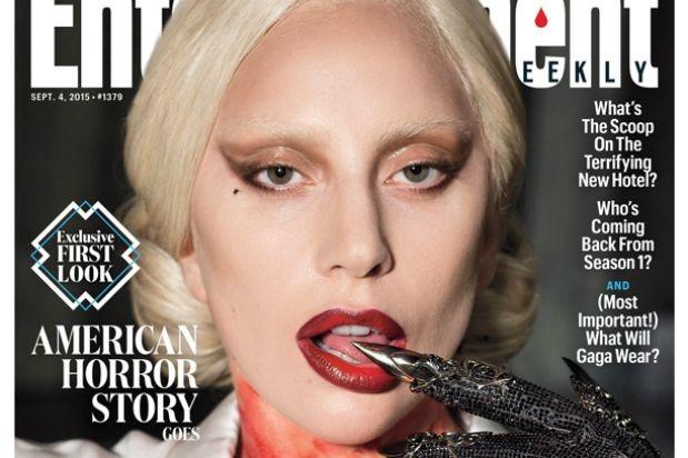 lady gaga ahs hotel ew entertainment weekly cover blood