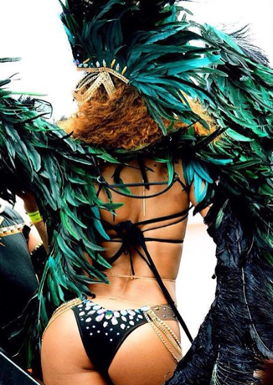 Rihanna Shows Off Her Boobs & Booty In Barbados