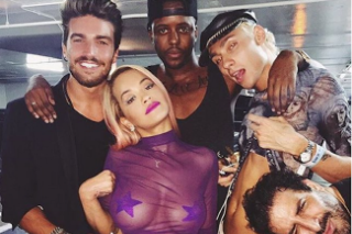 Rita Ora & Her Purple Pasties Take Over Los Angeles' El Rey Theatre: 12 Photos