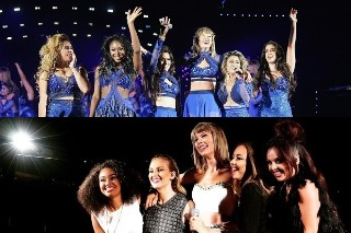 Taylor Swift Brings Out Fifth Harmony And Little Mix For '1989' Concerts: Watch