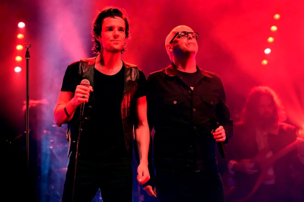 Brandon Flowers Neil Tennant The Wiltern Rent Human Los Angeles 2015 live performance