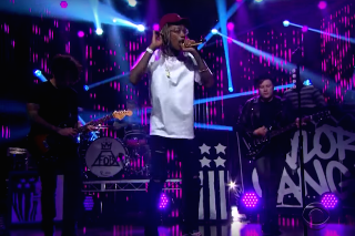 "Wiz Khalifa & Fall Out Boy Perform ""Stayin' Out All Night"" On 'James Corden': Watch"