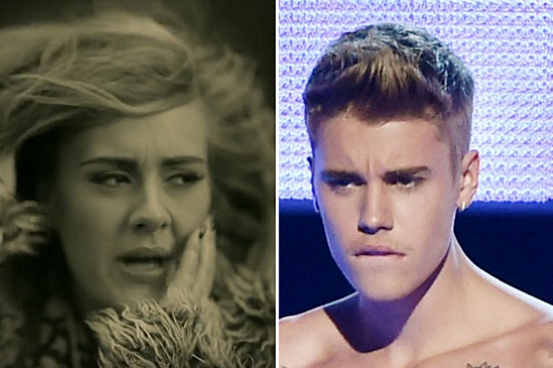 Justin Bieber vs. Sorry Adele Hello stan tweets