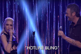 "Gwen Stefani Covers Drake's ""Hotline Bling"" During 'The Voice' Karaoke On 'Fallon': Watch"