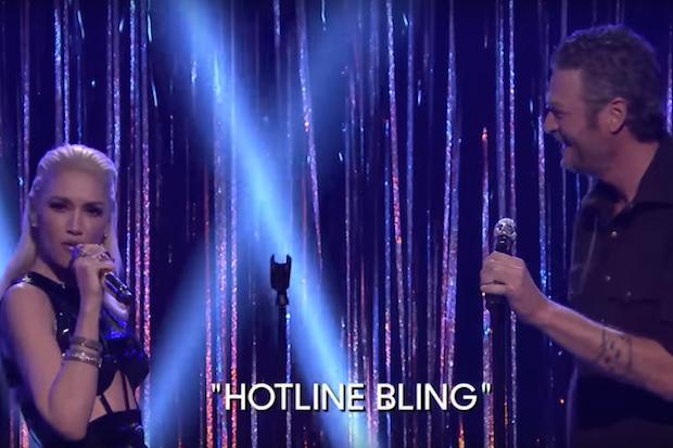 gwen-stefani-blake-shelton-hotline-bling-cover-fallon-tonight
