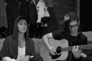 "Justin Bieber & Skrillex Tease ""Sorry"" Single With An Acoustic Snippet: Watch"