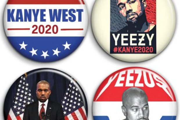 kanye west 2020 president campaign merch etsy pins