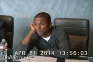 "Pharrell Is Not *Happy* In This ""Blurred Lines"" Deposition Video: Watch"