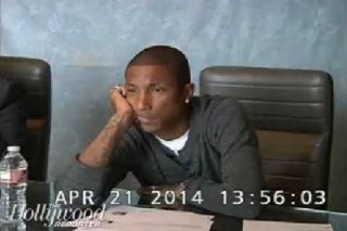 """Pharrell Is Not *Happy* In This """"Blurred Lines"""" Deposition Video: Watch"""
