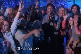 """Pharrell Turns 'The Ellen Degeneres Show' Into A Dance Party With """"Freedom"""" Performance: Watch"""