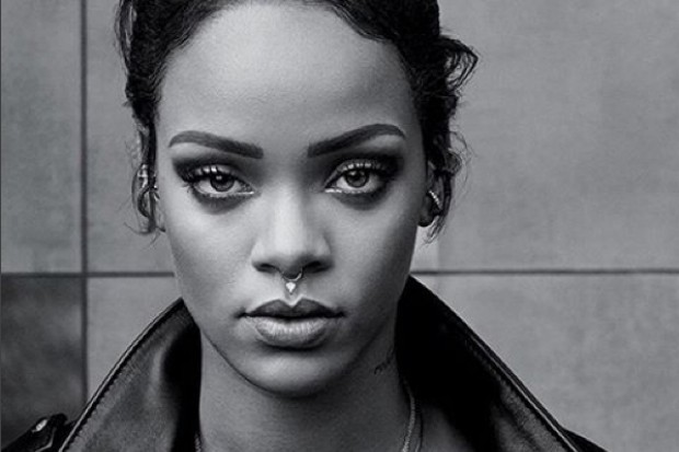 Rihanna nose ring black and white Instagram 2015 Anti Bitch Betta Have My Money