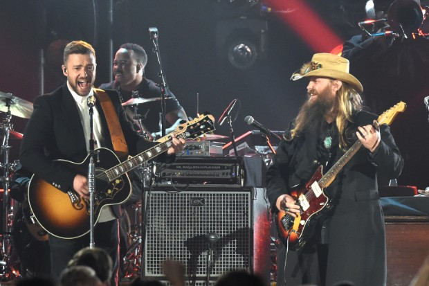 justin timberlake chris stapleton 2015 cma awards