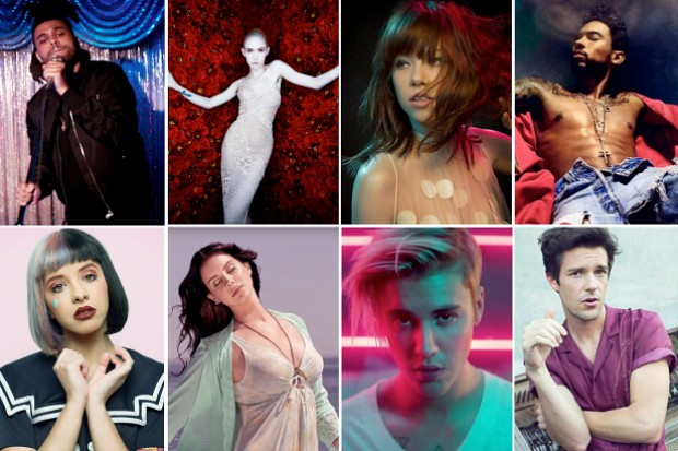 Idolator Best Albums 2015 Grimes The Weeknd Justin Bieber Lana Del Rey Melanie Martinez Brandon Flowers The Weeknd Miguel Carly Rae Jepsen