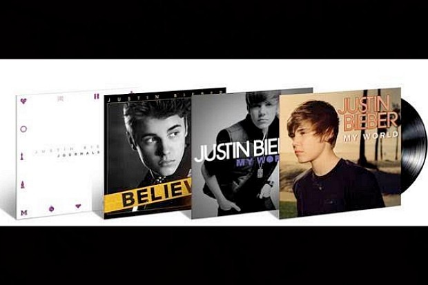 Justin Bieber albums vinyl My World Journals Believe