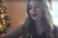 "Leighton Meester's Wistful Cover Of Elvis Presley's ""Blue Christmas"": Watch"
