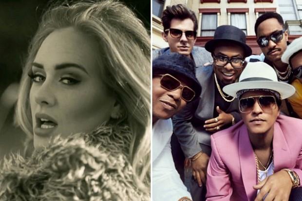 Adele 25 Hello 2015 Mark Ronson Bruno Mars Uptown Funk