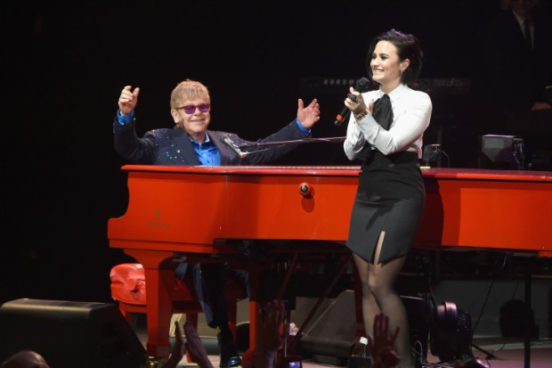 elton john demi lovato wiltern los angeles live perform duet 2016