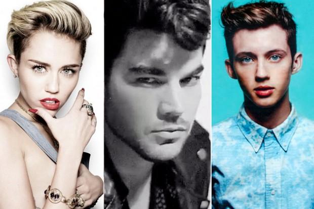 Miley Cyrus Adam Lambert Troye Sivan