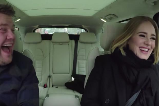 Adele sings hello on carpool karaoke with james corden for Car pool karaoke show