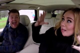 "Watch Adele Rap Nicki Minaj's ""Monster"" Verse & Cover Spice Girls For Carpool Karaoke With James Corden"