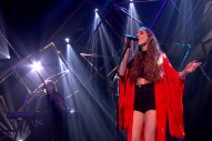 "Birdy Performs ""Keeping Your Head Up"" At BRITS Launch Show"
