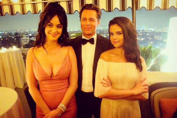 Selena Gomez Hangs With Katy Perry Amp Brad Pitt At Golden