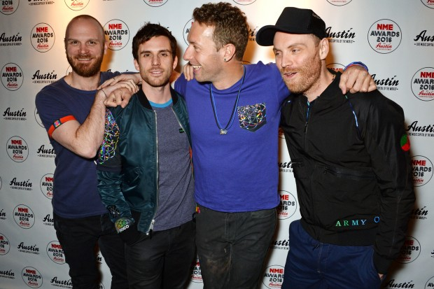 Coldplay NME Awards 2016