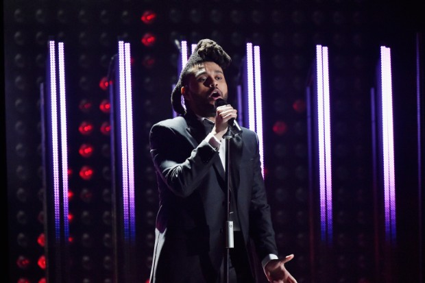 the weeknd grammys 2016 grammy awards