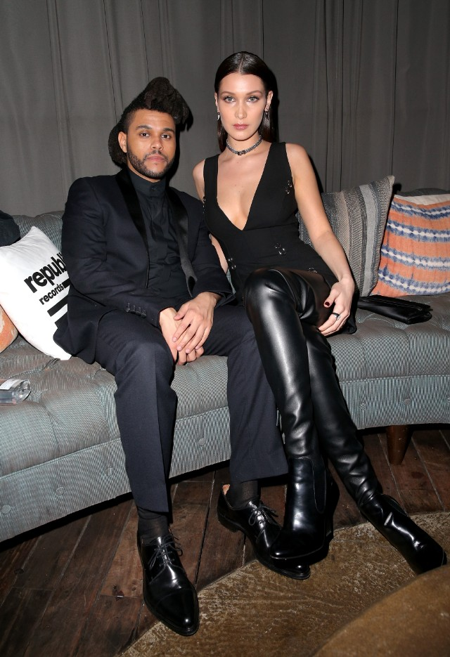 the weeknd grammys party bella hadid 2016