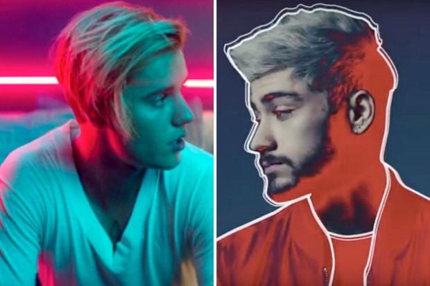 Justin Bieber Zayn Malik chart battle Love Yourself Pillowtalk