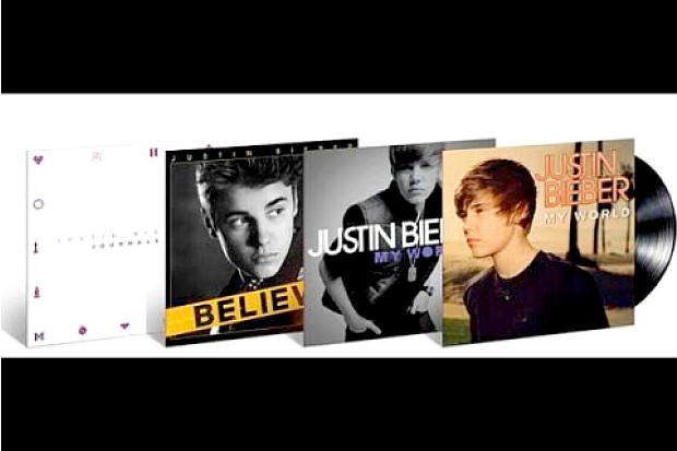 enter for a chance to win justin bieber s first four album releases on vinyl idolator. Black Bedroom Furniture Sets. Home Design Ideas
