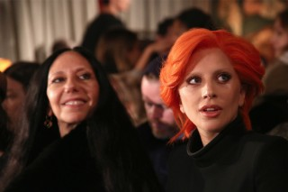 Lady Gaga Attends Brandon Maxwell's New York Fashion Week Show In David Bowie Drag: Photos