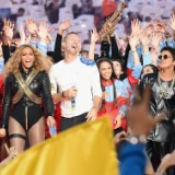 Coldplay, Bey & Bruno At SB 2016