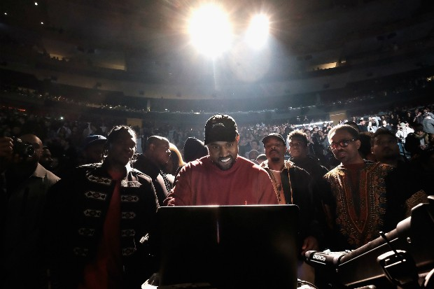 kanye west the life of pablo listening live stream msg madison square garden 2016 pusha t