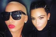 Kim Kardashian & Amber Rose Team Up For Selfie To End Kanye West-Wiz Khalifa Beef