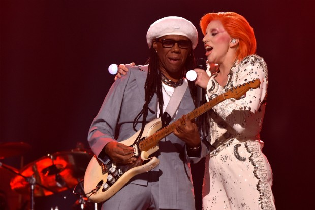 lady gaga nile rodgers david bowie tribute grammys 2016