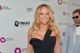 Mariah Carey Looks Flawless At Elton John's Oscar Party