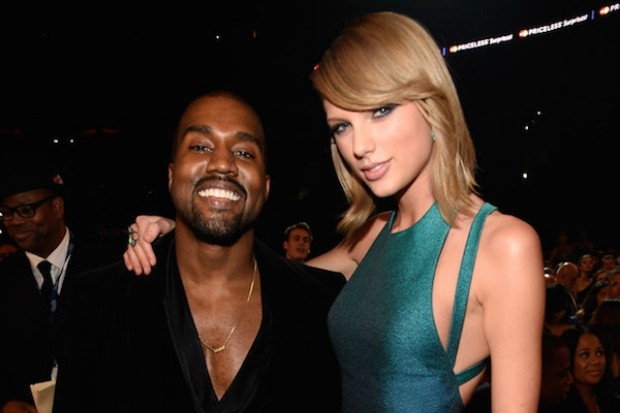 taylor swift kanye west 2015 grammys