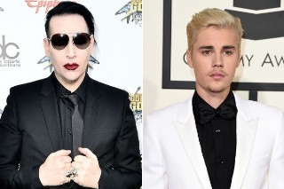 Justin Bieber And Marilyn Manson Took A Selfie Last Night