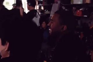 "Here's Kanye West Glowing On The Set Of Kim Kardashian's Tragic ""Jam"" Music Video"