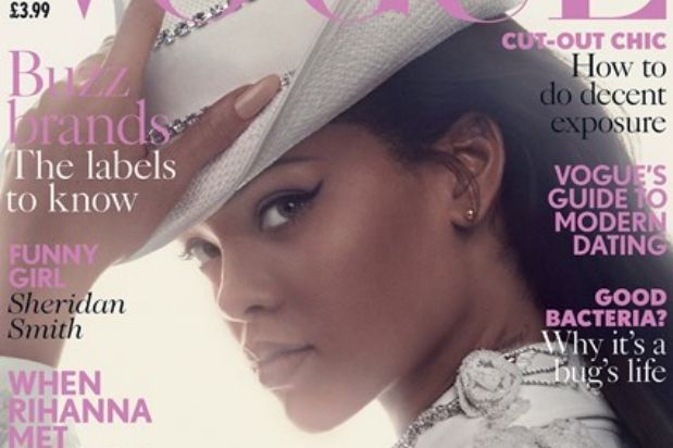 rihanna british vogue cover 2016 cowgirl cowboy