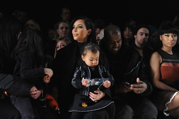 kim kardashian kanye west north west fashion week 2015