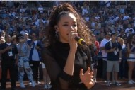 In Place Of 'Joyride' News, Here's Tinashe Singing The National Anthem At A Padres Game
