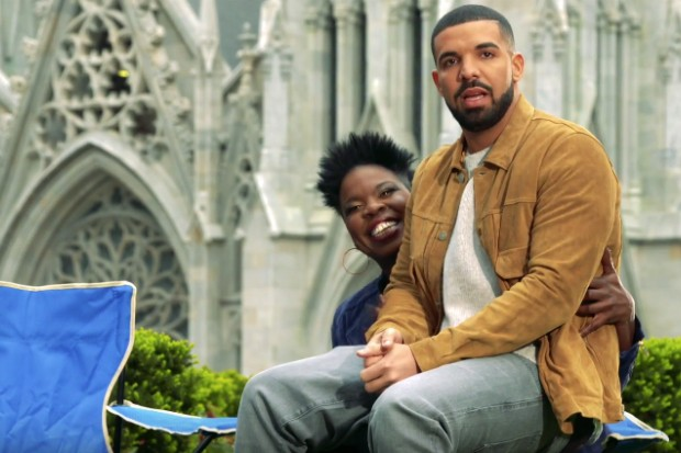 drake snl promo saturday night live leslie jones