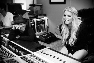 Jessica Simpson Hits The Studio With Linda Perry