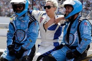 Lady Gaga Rides With Mario Andretti At Indy 500: Watch