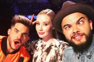 Adam Lambert, Iggy Azalea & Guy Sebastian On The Set Of 'X Factor' Australia
